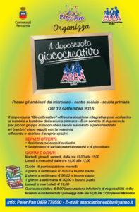 Doposcuola giococreativo 2016-2017 - Volantino Iscrizioni